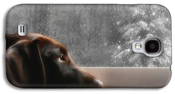 Puppies Galaxy S4 Cases - Dreamin of a White Christmas Galaxy S4 Case by Lori Deiter