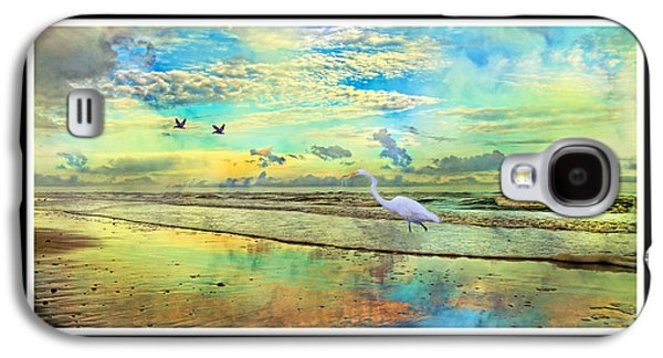 Matting Galaxy S4 Cases - Dreaming Along the Coast -- Egret  Galaxy S4 Case by Betsy A  Cutler