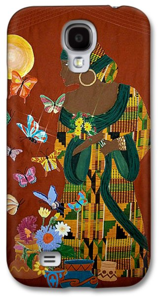 African-americans Tapestries - Textiles Galaxy S4 Cases - Dreaming Butterflies Galaxy S4 Case by Linda Egland