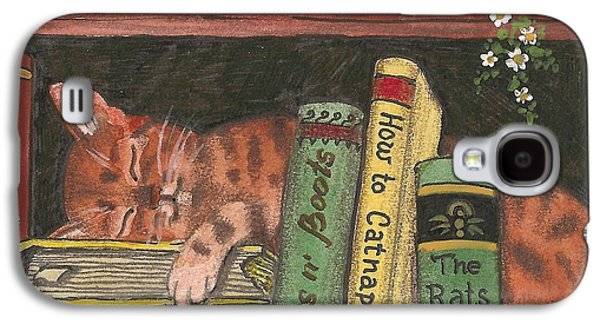 Animation Paintings Galaxy S4 Cases - Dreaming In The Library Galaxy S4 Case by Margaryta Yermolayeva
