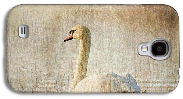 Nature Scene Mixed Media Galaxy S4 Cases - Songs Of A Swan Galaxy S4 Case by Georgiana Romanovna