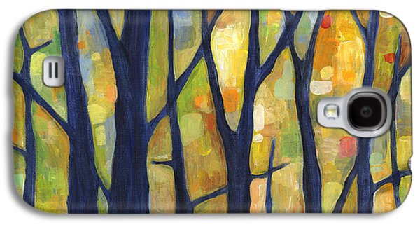 Dream Paintings Galaxy S4 Cases - Dreaming Trees 2 Galaxy S4 Case by Hailey E Herrera
