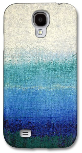Blue Abstracts Galaxy S4 Cases - Dreams in Misty Blue Galaxy S4 Case by Joseph Catanzaro