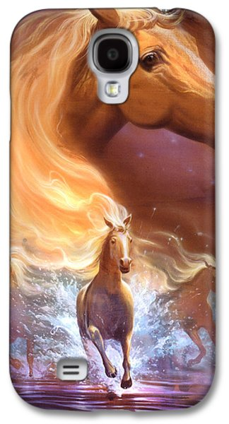 Decor Drawings Galaxy S4 Cases - Dreams need hope to run free Galaxy S4 Case by Jeff Haynie