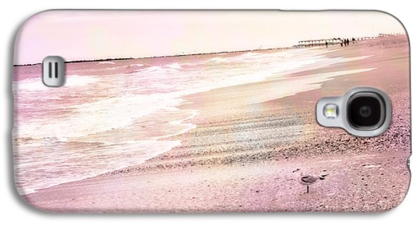 Ocean Art Photography Galaxy S4 Cases - Dreamy Pink Beach Ocean Coastal Wrightsville Beach North Carolina Beach Ocean Art Galaxy S4 Case by Kathy Fornal