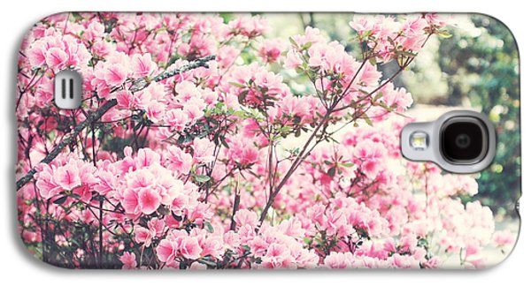 Dreamy Pink South Carolina Apple Blossom Trees - South Carolina Vintage Pastel Pink Blossoms Tree Galaxy S4 Case by Kathy Fornal