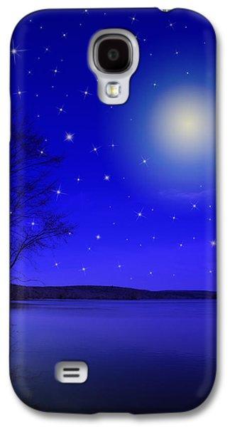 Rollosphotos Digital Art Galaxy S4 Cases - Dreamy Stars at Night Galaxy S4 Case by Christina Rollo