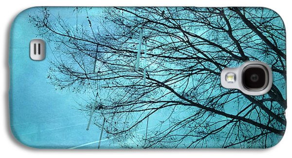 Photos Of Birds Galaxy S4 Cases - Dreamy Surreal Aqua Teal Turquoise Fantasy Tree Winter Landscape  Galaxy S4 Case by Kathy Fornal