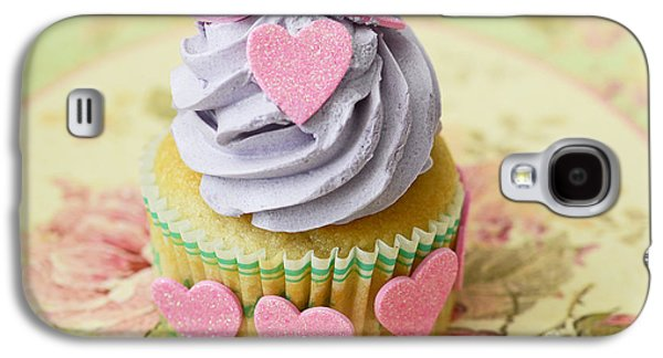 Kitchen Photos Galaxy S4 Cases - Dreamy Valentine Cupcake Pink Hearts Romantic Food Photography  Galaxy S4 Case by Kathy Fornal