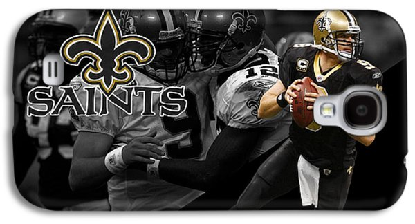 Uniform Galaxy S4 Cases - Drew Brees Saints Galaxy S4 Case by Joe Hamilton