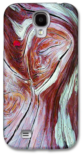 Abstract Nature Galaxy S4 Cases - Driftwood 6 in Shades of Burgundy Galaxy S4 Case by Bill Caldwell -        ABeautifulSky Photography