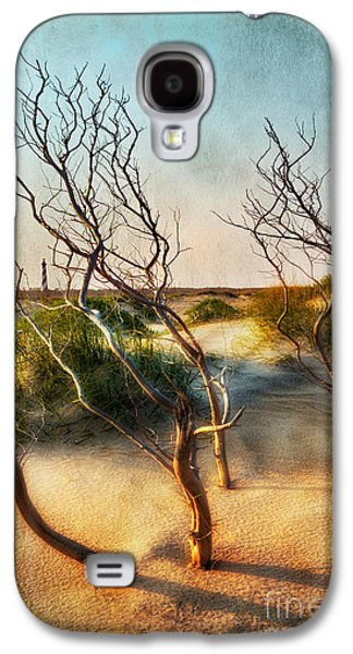 Paint Photograph Galaxy S4 Cases - Driftwood Sand Dunes and Lighthouses II Galaxy S4 Case by Dan Carmichael