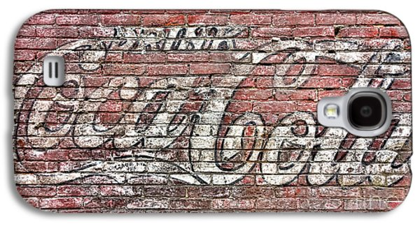 Coca-cola Signs Galaxy S4 Cases - Drink Coca Cola Galaxy S4 Case by Olivier Le Queinec