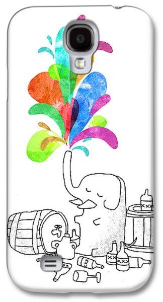 Humor Galaxy S4 Cases - Drink Drank Drunk Galaxy S4 Case by Budi Satria Kwan