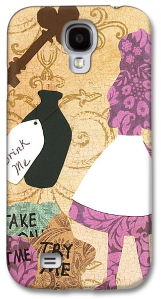 March Hare Galaxy S4 Cases - Drink Me Eat Me Galaxy S4 Case by Savannah Bertozzi
