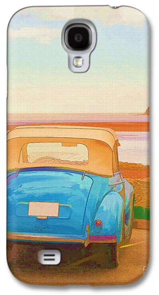 Beach Landscape Galaxy S4 Cases - Drive to the Shore Galaxy S4 Case by Edward Fielding