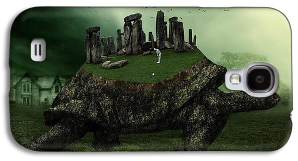 Digital Collage Galaxy S4 Cases - Druid Golf Galaxy S4 Case by Marian Voicu