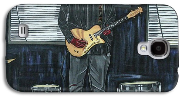 Bruce Springsteen Paintings Galaxy S4 Cases - Drums and Wires Galaxy S4 Case by Sandra Marie Adams