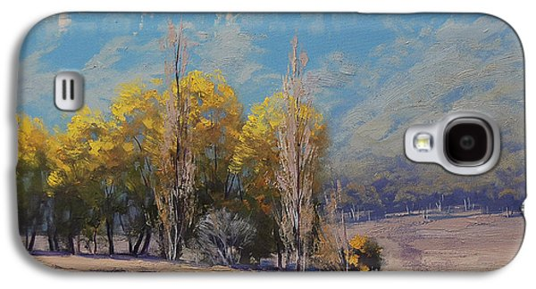 Shed Paintings Galaxy S4 Cases - Dry Autumn  Galaxy S4 Case by Graham Gercken