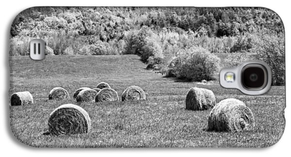 Hay Bales Galaxy S4 Cases - Dry Hay Bales In Maine Farm Field Galaxy S4 Case by Keith Webber Jr