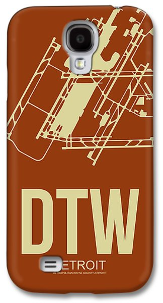 Metropolitan Galaxy S4 Cases - DTW Detroit Airport Poster 2 Galaxy S4 Case by Naxart Studio