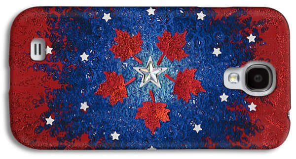 Fourth Of July Mixed Media Galaxy S4 Cases - Dual Citizenship 2 Galaxy S4 Case by First Star Art