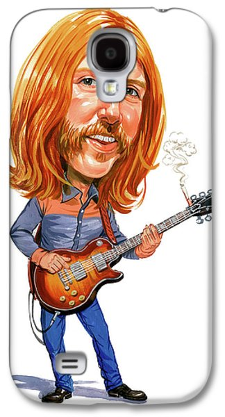 Rock N Roll Paintings Galaxy S4 Cases - Duane Allman Galaxy S4 Case by Art
