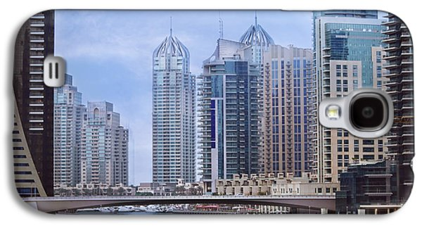 Transportation Pyrography Galaxy S4 Cases - Dubai Marina Galaxy S4 Case by Jelena Jovanovic