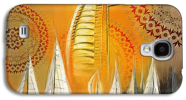 Harbor Paintings Galaxy S4 Cases - Dubai Symbolism Galaxy S4 Case by Corporate Art Task Force