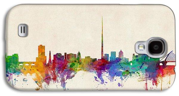 Ireland Galaxy S4 Cases - Dublin Ireland Skyline Galaxy S4 Case by Michael Tompsett