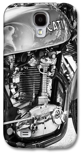 Bicycle Photographs Galaxy S4 Cases - Ducati Desmo MK 3 450cc Monochrome Galaxy S4 Case by Tim Gainey