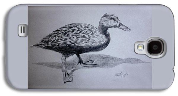 Aquatic Drawings Galaxy S4 Cases - Duck Galaxy S4 Case by Derrick Higgins