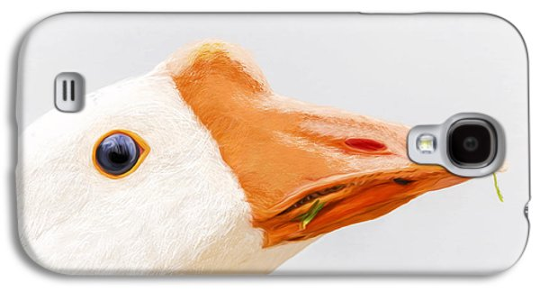 Geese Digital Art Galaxy S4 Cases - Duck Duck Goose - Bird Galaxy S4 Case by Sharon Norman
