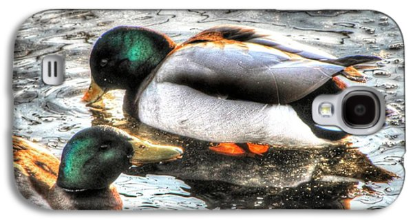 Fauna Pyrography Galaxy S4 Cases - Duck Lake Galaxy S4 Case by Yury Bashkin
