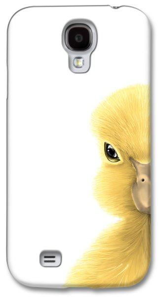 Digital Paintings Galaxy S4 Cases - Duck Galaxy S4 Case by Veronica Minozzi