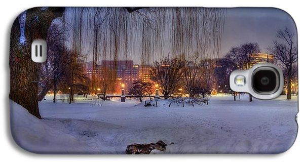 Ducks In Boston Public Garden In The Snow Galaxy S4 Case by Joann Vitali