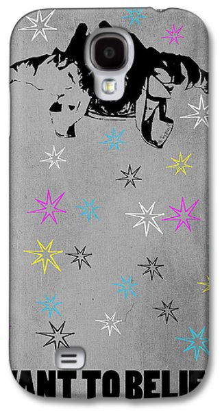 Persian Carpet Galaxy S4 Cases - Dude I Want To Believe 3 Galaxy S4 Case by Filippo B