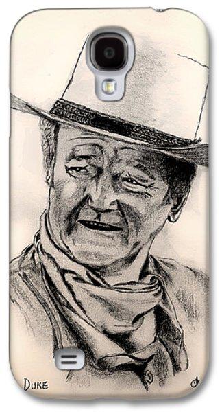 John Wayne Drawings Galaxy S4 Cases - Duke Galaxy S4 Case by Charles Norris