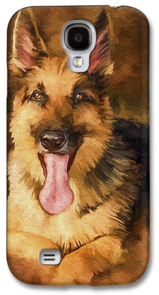 German Shepherd Galaxy S4 Cases - Duke Galaxy S4 Case by David Wagner