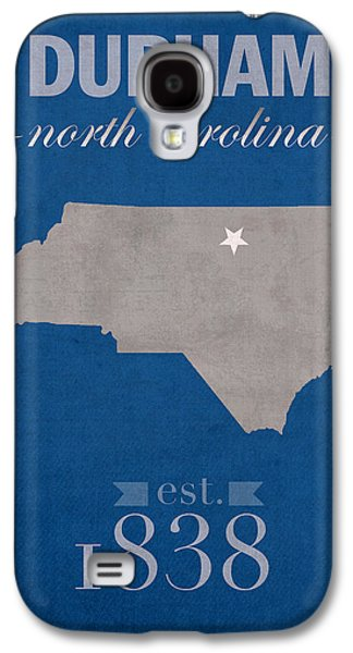 Universities Mixed Media Galaxy S4 Cases - Duke University Blue Devils Durham North Carolina College Town State Map Poster Series No 034 Galaxy S4 Case by Design Turnpike
