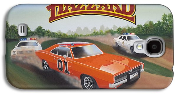 Etc. Paintings Galaxy S4 Cases - Dukes of Hazzard Chase Galaxy S4 Case by Gregory Murray