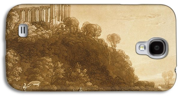 Laundry Paintings Galaxy S4 Cases - Dunblane Abbey Galaxy S4 Case by Joseph Mallord William Turner