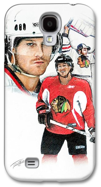 Hockey Pastels Galaxy S4 Cases - Duncan Keith Galaxy S4 Case by Jerry Tibstra