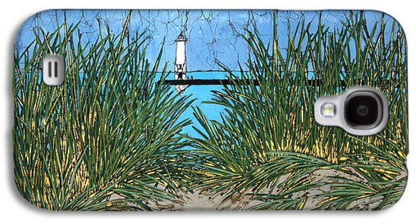 Light Tapestries - Textiles Galaxy S4 Cases - Dune Grass and Pier Galaxy S4 Case by Terri Haugen