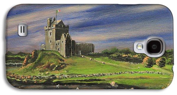 Kinkade Galaxy S4 Cases - Dunguaire Castle Ireland Galaxy S4 Case by Cecilia  Brendel