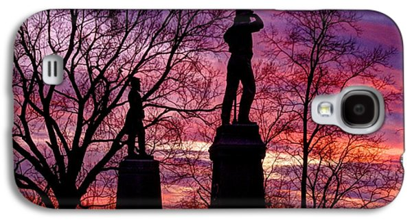 Yankee Division Galaxy S4 Cases - Durells Independent Battery D and 48th PA Volunteer Infantry-A1 Sunset Antietam Galaxy S4 Case by Michael Mazaika