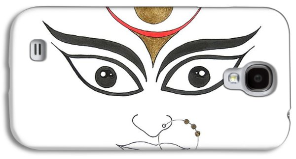Religious Drawings Galaxy S4 Cases - Durga III Galaxy S4 Case by Kruti Shah
