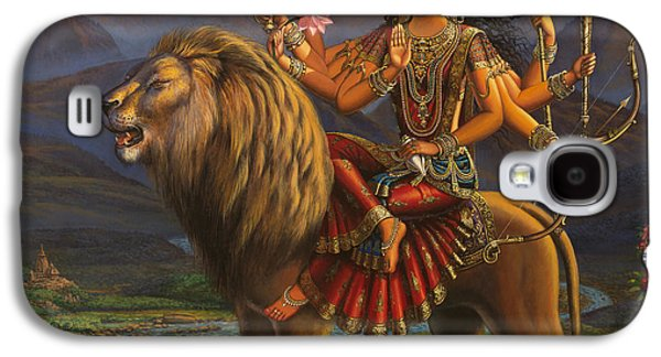 Goddess Durga Galaxy S4 Cases - Durga Ma Galaxy S4 Case by Vrindavan Das
