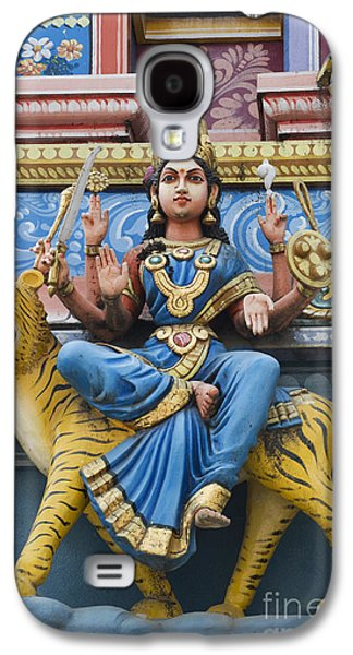 Goddess Durga Galaxy S4 Cases - Durga Statue on Hindu Gopuram Galaxy S4 Case by Tim Gainey