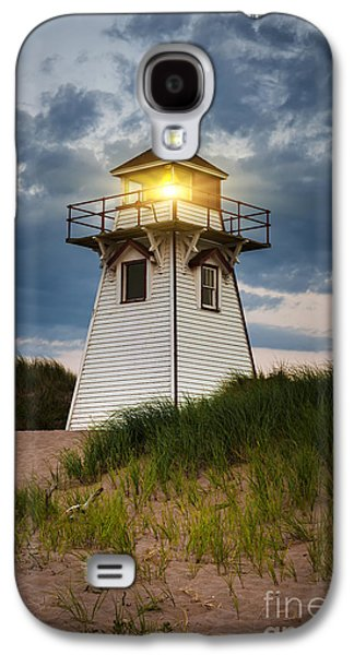 Atlantic Beaches Galaxy S4 Cases - Dusk at Covehead Harbour Lighthouse Galaxy S4 Case by Elena Elisseeva